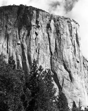 10-1-1984 Portrait of El Capitan-Yosemite-Linhof Technika V 4x5 camera-300mm Schneider Xenar lens-G filter-Kodak Tri X Pan Pro 4x5 film-Kodak HC110B developer.