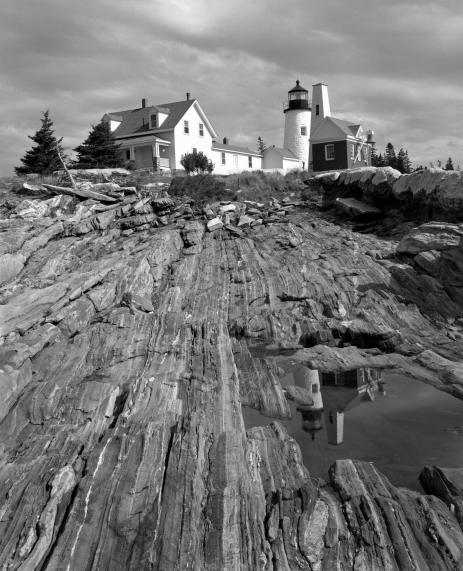 September 1986-Pemequid Light-Portland Maine-4x5 TXP film-Linhof camera-HC110B developer.