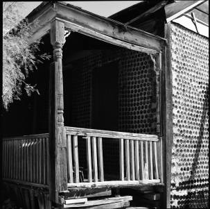 9-1999 Bottle House-Death Valley Area-Hasselblad-80mm Zeiss Planar-T-max 100 film--PMK Pyro developer.