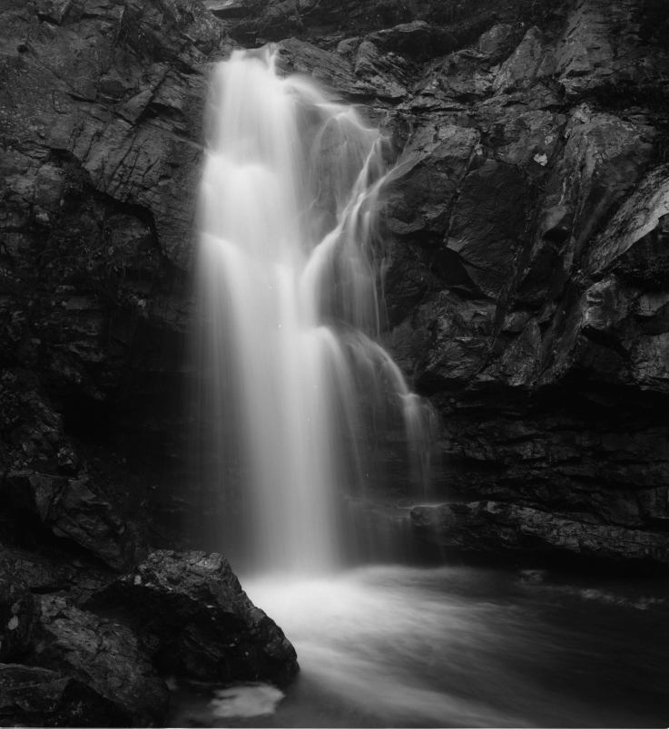 12-29-1991 Pevine Falls at Oak Mountain State Park, Birmingham Alabama-Linhof Technika 4x5 camera-120mm Schneider Super Symmar-Kodak Tmax 100 4x5 film-Kodak Tmax RS developer.