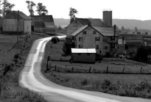 7-1983 Amish Country near Lancaster Pennsylvania-Linhof Technika 4x5 camera-300mm Schneider Xenar-K2 filter-Kodak Tri C Pan Pro 4x5 film-Kodak HC110B developer.