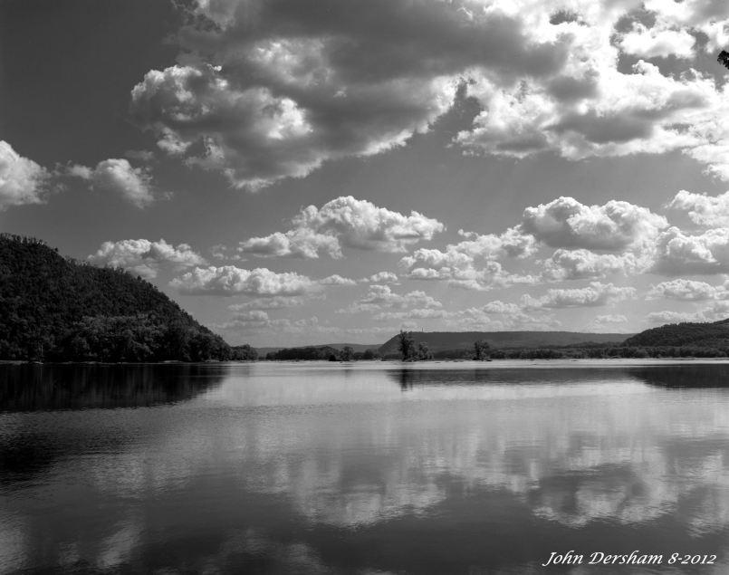 8-28-2012 Susquahanna River at Liverpool Pennsylvania-Wista DX 4x5 camera-120mm Schenider Super Symmar HM-K2 filter-Adox CHS 50 4x5 film-PMK Pyro developer.