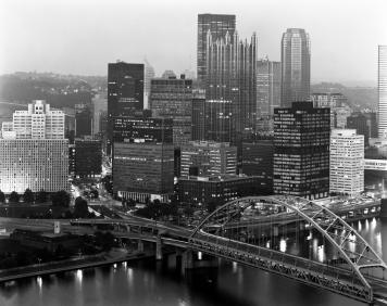 10-1983 Pittsburgh Pennsylvania-Cambo 4x5 view camera-300mm Schneider Xenar lens-Kodak Tri X Pan Pro 4x5 film-Kodak HC110B developer.