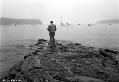 10-14-1985 Port Clyde Maine-with Harvey Friedman model-Toyo 8x10M camera with 5x7 back-210mm Schenider Symmar S lens-Kodak Tri X Pan Pro 5x7 film-Kodak HC110B developer.