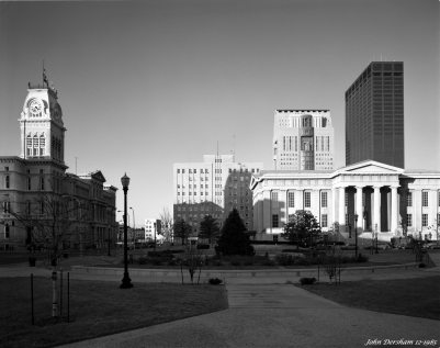 12-30-1985 Louisville Kentucky-last sunlight-Linhof Technika V-120mm Schneider Symmar S-K2 filter-Kodak Tri X Pan Pro 4x5 film-Kodak HC110B developer.