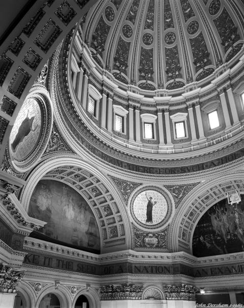 1-9-1985 Capitol dome-Harrisburg Pennsylvania-Technika V 4x5 camera-90mm Schneider Super Angulon len-Kodak Tri X Pan Pro 4x5 film-Kodak HC110B developer.