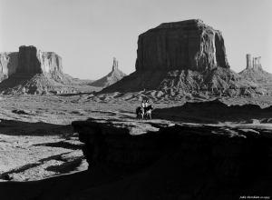 10-1993 Monument Valley-Linhof Technika V 4x5 camera-300mm Schneider Xenar lens-K2 filter-Kodak Tmax 100 4x5 film-PMK Pyro developer.