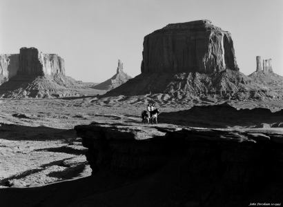10-1993 Monument Valley-Linhof Technika V 4x5 camera-300mm Schneider Xenar lens-K2 filter-Kodak Tmax 100 4x5 film-PMK Pyro developer.