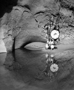 9-1993 Lake Powell Arizona-Native American demostration for Qualex/Kodak Kodalux photo contest winner from the summer of 1993-Linhof Technika 4x5 camera-120mm Super Symmar HM lens-Ilford HP5+ 4x5 film-PMK Pyro developer.
