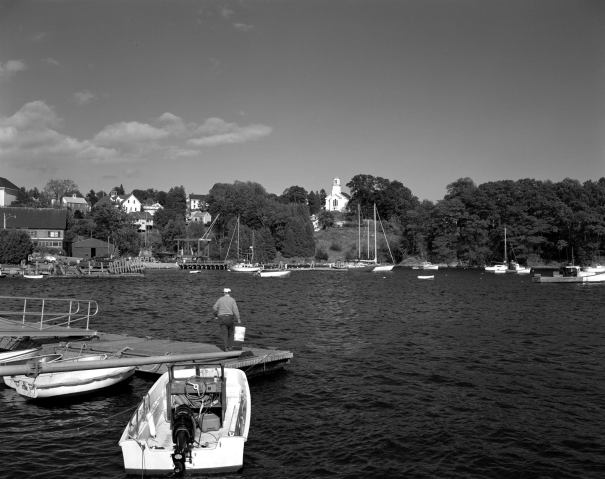 9-6-1986 Rockport Maine-Linhof Technika 4x5 camera-120mm Schneider Symmar S-G filter-Kodak Tri X Pan Pro 4x5 film-Kodak HC110 developer.