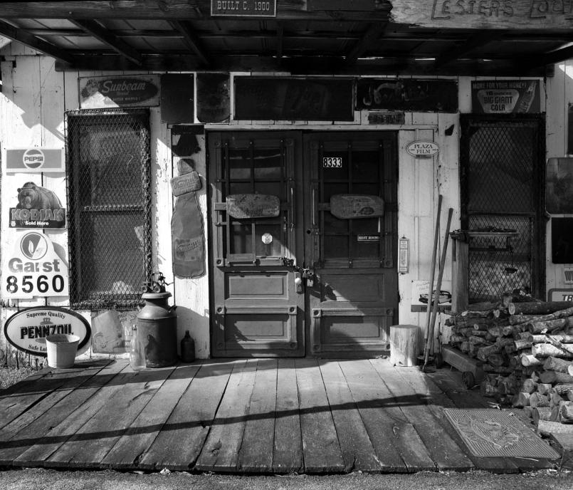 3-28-2010 old store in Goodlesville Tennessee-Pentax 6x7 camera-55mm lens-Ilford HP5+ 120 film-PMK Pyro developer.