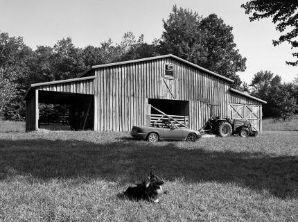 9-22-2012 Down on the farm-Lookout Mountain Alabama-Pentax 6x7 camera-55mm lens-Ilford HP5+ 120 film-PMK Pyro developer.