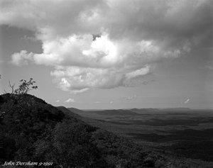 9-1-1991 Mount Cheaha Alabama-2,413 ft highest in Alabama-Linhof Technika V-120mm Schneider Symmar S-Kodak Tmax 100 4x5 film-Kodak Tmax RS developer.