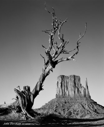 10-1993 Mitten Point Monument Valley-Linhof Technika 4x5 camera-90mm Schneider Super Angulon lens-Deep Yellow filter-Kodak Tmax 100 4x5 film-Kodak Tmax RS developer