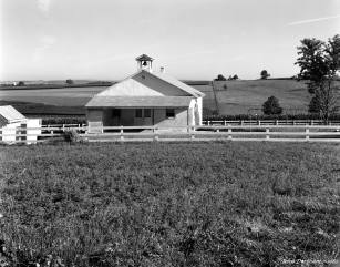 7-23-1983 Amish School near Oregon Pennsylvania-Cambo SC4x5 view camera-150mm Schneider Symmar S lens-Ilford FP4 4x5 film-Kodak HC110B developer.
