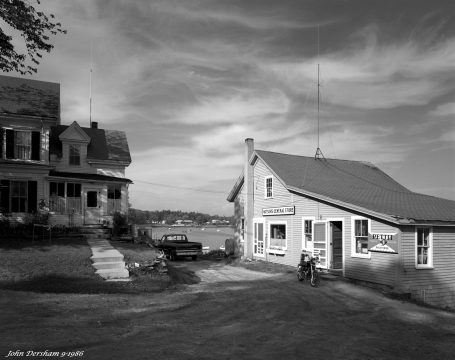 9-6-1986 Cundy's Harbor-Watson's General Store-Maine-Linhof Technika V 4x5 camera-90mm Schneider Super Angulon lens-K2 filter-Kodak Tri X Pan Pro 4x5 film-HC110B developer.