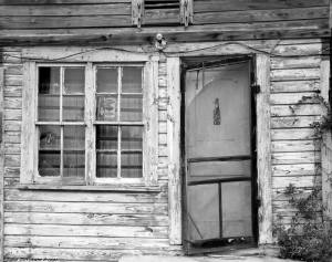 8-30-1991 Old store front-near Camp Cosby Alabama-Linhof Technika V 4x5 camera-120mm Schneider Super Symmar HM lens-Kodak T-max 100 4x5 film-Kodak T-max RS developer. — at Everywhere U.S. A.