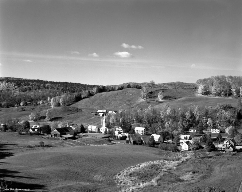 10-12-1985 East Corinith Vermont-Linhof Technika V 4x5 camera-150mm Schneider Symmar S lens-K2 filter-Kodak Tri X Pan Pro 4x5 film-Kodak HC110B developer.