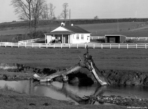 11-1984 Amish School Pennsylvania-Linhof Technika V 4x5 camera-300mm Schneider Xenar lens-K2 filter-Kodak Plus X Pan Pro 4x5 film-Kodak HC110B developer.