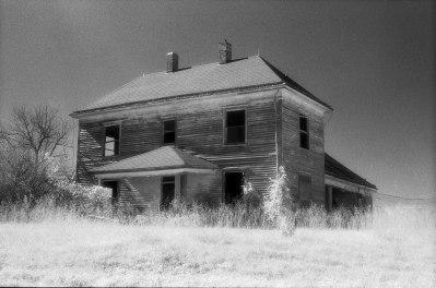 10-1990 Central Missouri-Leica SL camera-50mm Leitz lens-Kodak High Speed Infrared 35mm film-Kodak D76 developer.