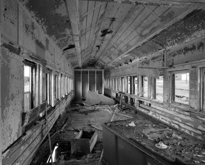 6-28-2016 Abandoned railroad passenger car-Gadsden Alabama-Built in 1922-L&N railroad-Pentax 6x7 camera-45mm lens-Kodak Tmax 400 II 120 film-PMK Pyro developer.
