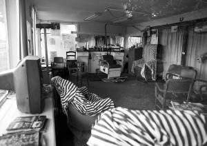 7-19-2016 Holly Pond Barber Shop-Holly Pond Alabama-Pentax 6x7 camera-45mm lens-Tmax 400 120 film-PMK Pyro developer.