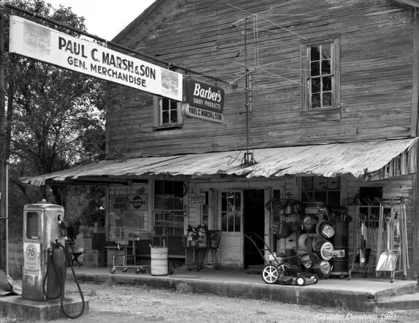 7-31-1991 Locust Fork Alabama-Marsh's General Store-Toyo 8x10M camera-210mm Schneider Apo Symmar lens-Kodak Tmax 400 8x10 film-Kodak Tmax RS developer