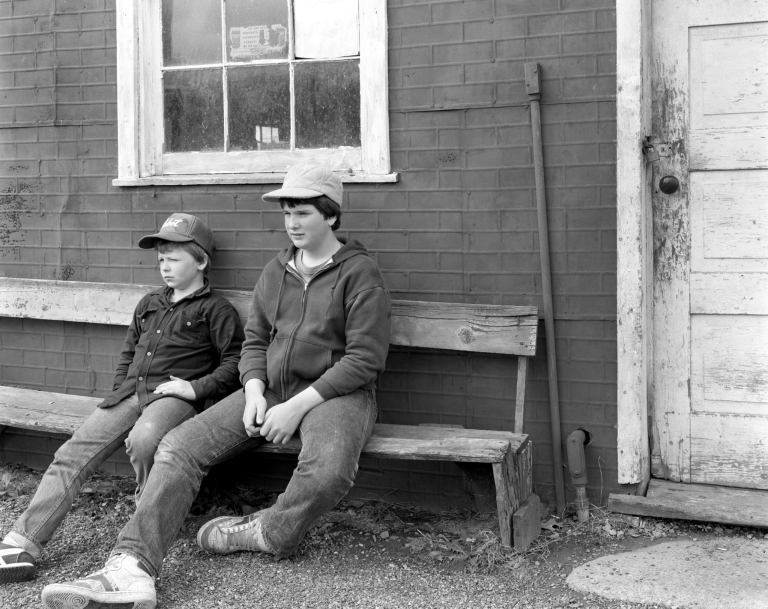5-5-1984 Near Lewistown Pennsylvania-Cambo 4x5 view camera-150mm Schneider Symmar-Ilford HP5 4x5 film-Kodak HC110B developer.