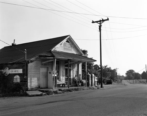 6-22-1980 Rockvale Tennessee-Windrow's General Merchandise store-Mr and Mrs Windrow pictured here-Toyo D45M 4x5 view camera-150mm Schneider Symmar S lens-K2 filter-Kodak Plus x Pan 4x5 film-Edwal FG7 developer.