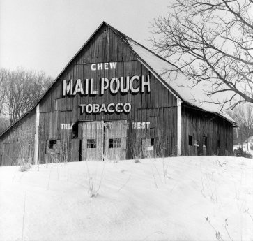 2-15-1982 Mail Pouch Barn near Nashville Indiana-Mamiya C330 camera-105mm Sekor lens-Kodak Verichrome Pan 120 film-Edwal FG7 developer.