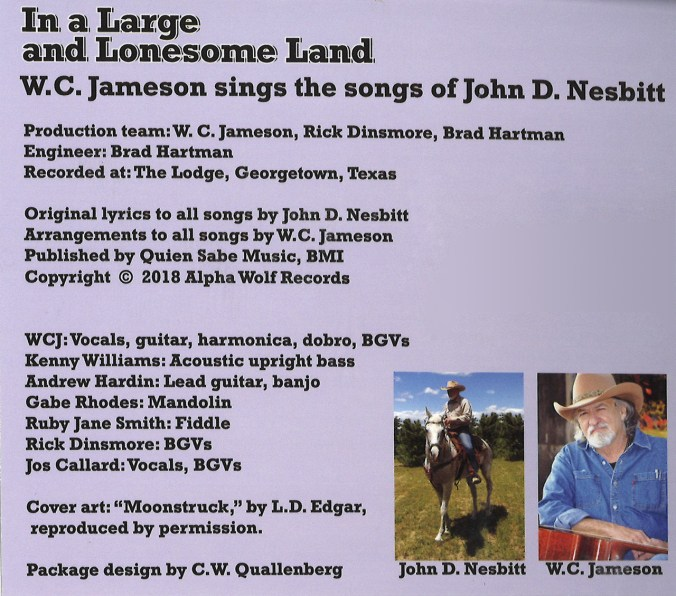 In a Large and Lonesome Land - John D  Nesbitt - Audio