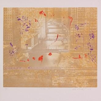 Chicago Duet, Lithograph, by John Dowell Artist Photographer