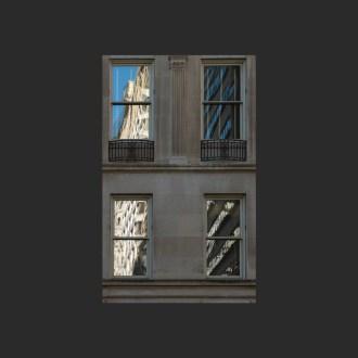Window reflections in Rittenhouse Square, Philadelphia, by John Dowell