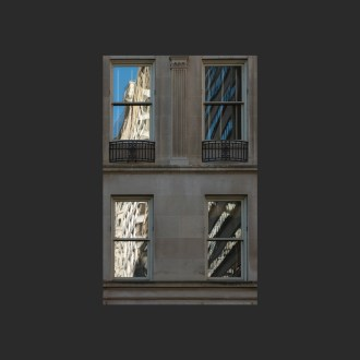 Window reflections in Rittenhouse Square, Philadelphia, by John Dowell