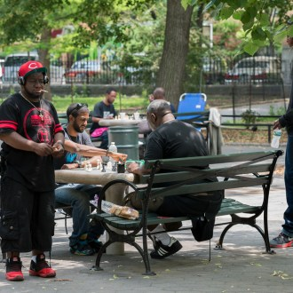 The Man, Harlem Chess, by John Dowell artist photographer