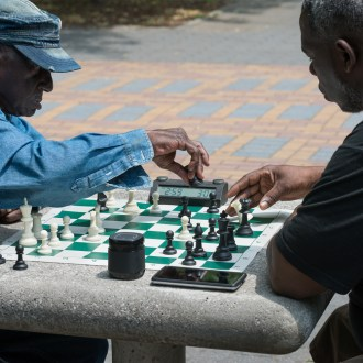 Moving, Harlem Chess, by John Dowell artist photographer