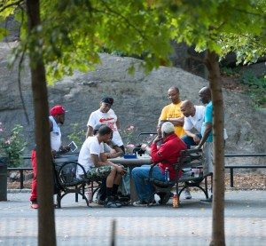 The Game, Harlem Chess, by John Dowell artist photographer
