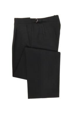 Black Herringbone Trousers