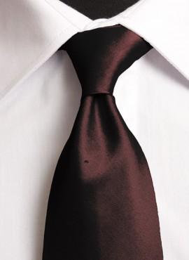Chocolate Standard Tie (+ Handkerchief)