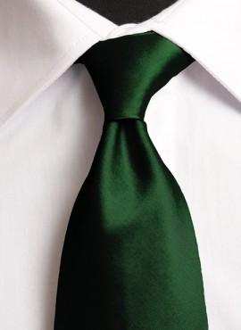 Dark Bottle Standard Tie (+ Handkerchief)