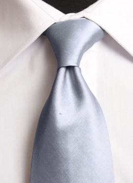 Gunmetal Standard Tie (+ Handkerchief)