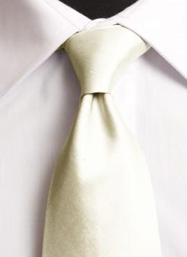 Ivory Standard Tie (+ Handkerchief)