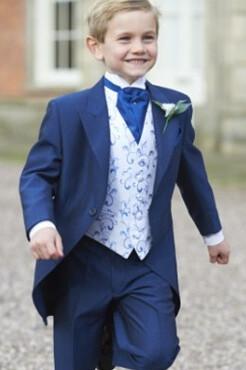 Boys Royal Blue Mohair Tailcoat (Full Package)