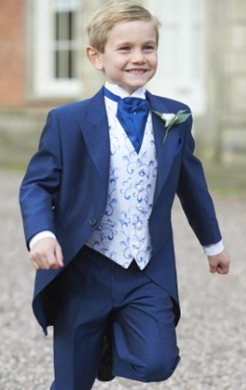 Boys Royal Blue Mohair Tailcoat (Full Package)