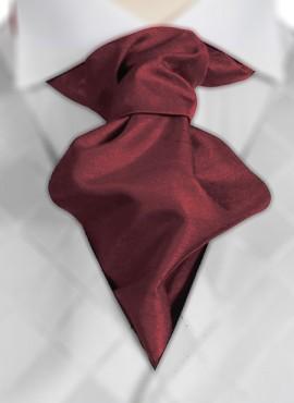 Claret Ruche Tie (+ Handkerchief)