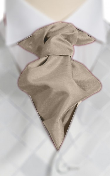 Coffee Ruche Tie (+ Handkerchief)