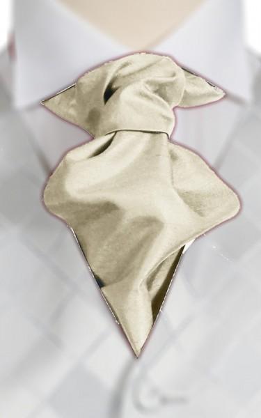 Ivory Ruche Tie (+ Handkerchief)