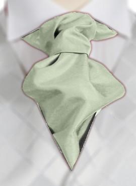 Mint Ruche Tie (+ Handkerchief)