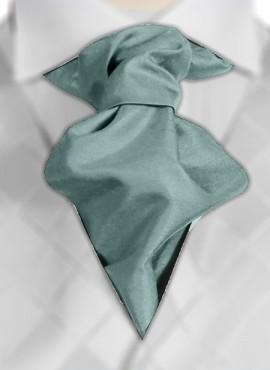 Sage Ruche Tie (+ Handkerchief)
