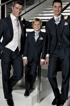 Boys Navy Mohair Lounge Suit (Full Package)